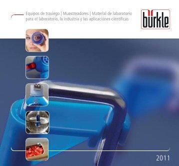 Equipos de trasiego | Muestreadores | Material de ... - Bürkle GmbH