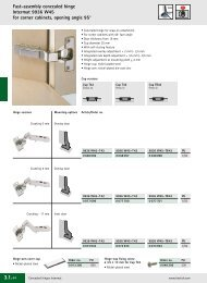 Fast-assembly concealed hinge Intermat 9936 W45 for ... - Hettich