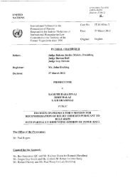 Decision on prosecutor's motion for reconsideration of relief ... - ICTY