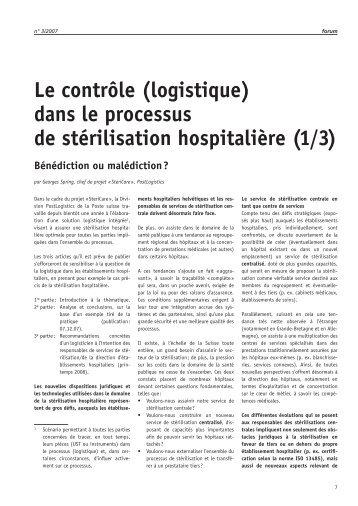 logistique - Société Suisse de Stérilisation Hospitalière