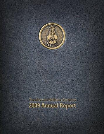 2009 Annual Report - Investor Relations - Sherwin-Williams