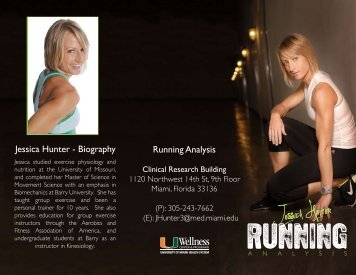 RUNNING ANALYSIS brochure front - Medical Wellness Center