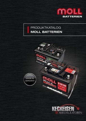 PRODUKTKATALOG MOLL BATTERIEN - Keckeisen Akkumulatoren