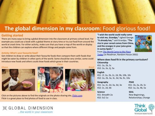 The global dimension in my classroom: Food glorious food