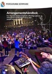 Arrangementshåndbok - Porsgrunn Kommune