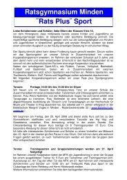 Rats plus Sportinfo - Termin - Ratsgymnasium Minden