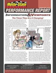 PERFORMANCE REPORT - Motor State Distributing