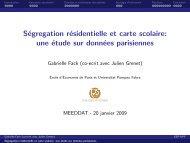 Présentation de Mme Fack - Paris School of Economics