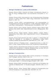 Publikationen, Stand 22. April 2008 - Universität Würzburg