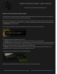 Hacker Evolution Duality – game manual
