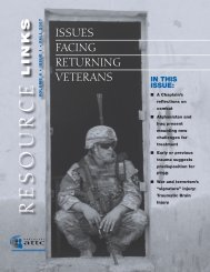 Issues Facing Returning Veterans - the ATTC Network