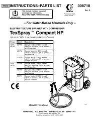 Electric texture sprayer with compressor texspray - Graco Inc.