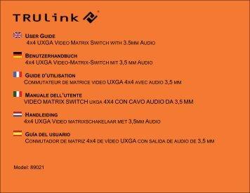 4x4 uxga v 4x4 uxga v video matrix switch uxga 4x4 con cavo ... - C2G