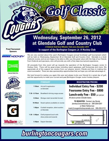 Wednesday, September 26, 2012 at Glendale Golf and Country Club