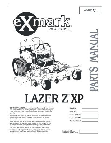 Exmark Lawn Mower Parts Manual Exmark Manuals Parts And