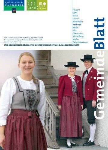 Der Musikverein Harmonie Röthis präsentiert die neue Frauentracht