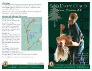Dance Starter Kit Brochure - Sierra Dance Center