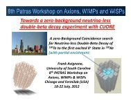 Towards a zero - 8th Patras Workshop on Axions, WIMPs and WISPs