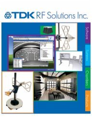 Overview Brochure - TDK RF Solutions Inc.