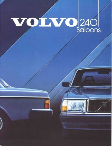 The 1984 Volvo 240 Saloons