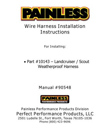 wire harness installation instructions painless wiring?quality\\\=85 aftermarket wiring harness install hot rod network on aftermarket nelson smartzone ez wiring diagram at gsmx.co