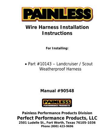 8 circuit universal remote mount modular harness painless wiring rh yumpu com 2012 honda pilot trailer wiring harness installation instructions nilight wiring harness installation instructions