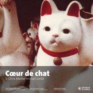 Cœur de chat - Activités culturelles de l'Université de Genève