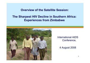 Experiences from Zimbabwe - SAfAIDS