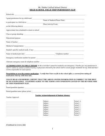 school permission slips