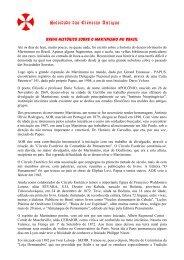 Breve Historico sobre o Martinismo no Brasil - Sociedade das ...