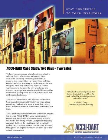 ACCU-DART Case Study: Two Days = Two Sales