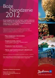 Oferta świąteczna Radisson Blu Centrum w Warszawie