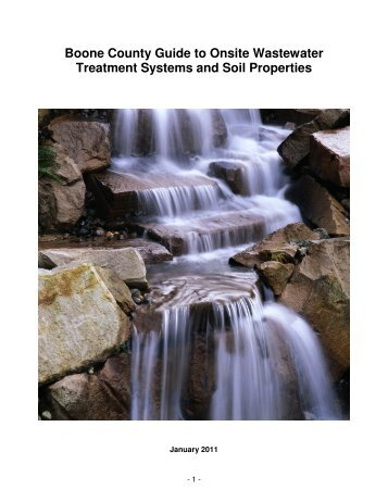 Boone County Guide to Onsite Wastewater Treatment Systems and ...
