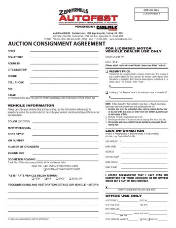 Consignment Agreement  Ecarlist