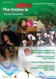 Rights-based approaches to GBV prevention programming - SAfAIDS