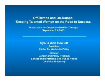Off-Ramps and On-Ramps - Association for Corporate Growth