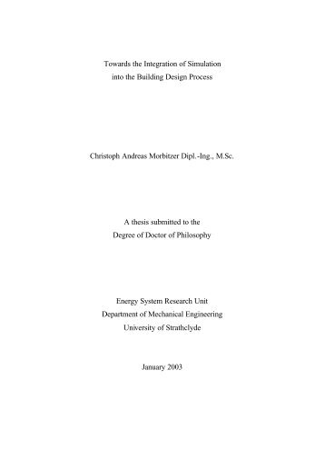 PhD Thesis - Energy Systems Research Unit - University of Strathclyde