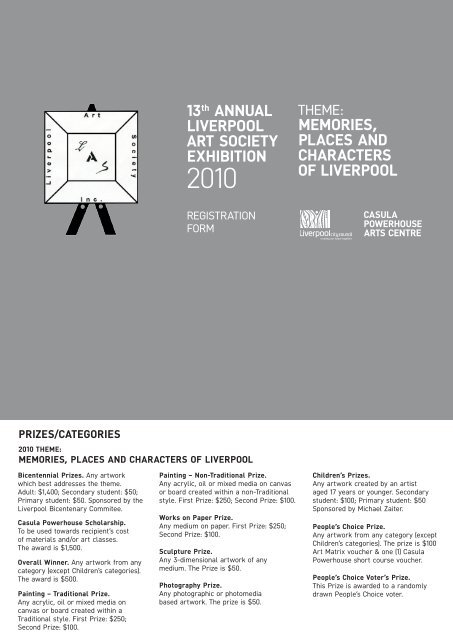 13th ANNUAL LIVERPOOL ART SOCIETY EXHIBITION MEMORIES ...