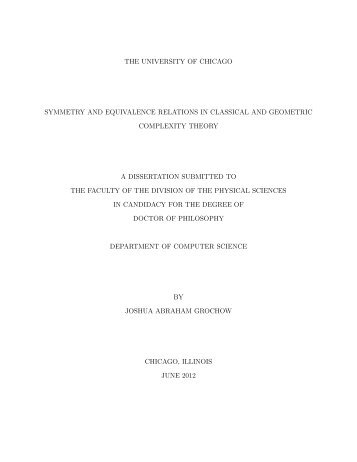 my thesis - Department of Computer Science, University of Toronto