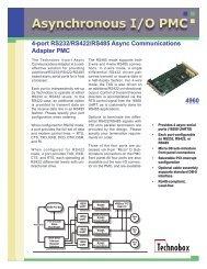 Asynchronous I/O PMC - Technobox, Inc.