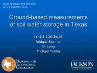 Caldwell: Ground-based measurements of soil water storage in Texas