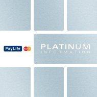 Platinum Infofolder (pdf) - Kreditkarte.at