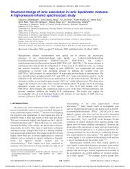 Structural change of ionic association in ionic liquid/water mixtures ...