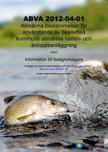 ABVA 2012-04-01 - Skellefteå kommun