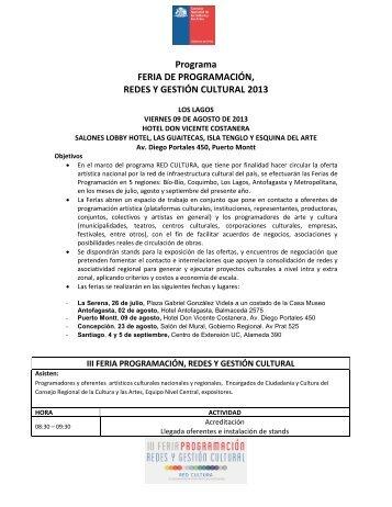 Programa FERIA DE PROGRAMACIÓN, REDES Y GESTIÓN ...