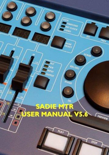 SADiE MTR User Manual v5