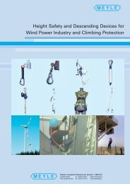 Wind Power / Personal safety products and descending devices