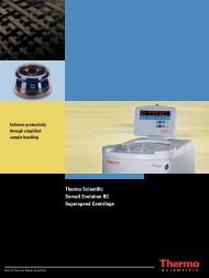 Thermo Scientific Sorvall Evolution RC Superspeed ... - AFAB Lab