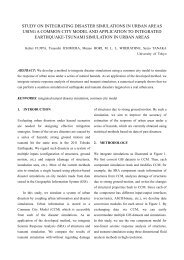 Study on integrating disaster simulations in urban areas using a ...