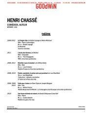 HENRI CHASSÉ - Agence Goodwin